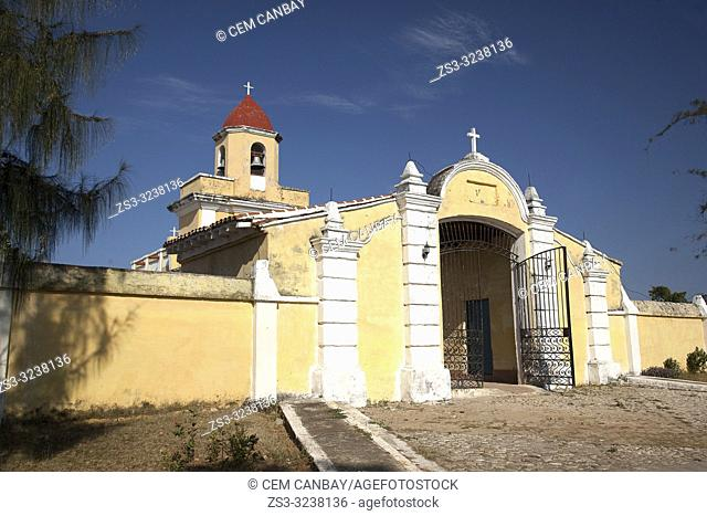 View to the entrance of the cemetery in the town, Trinidad, Sancti Spiritus Province, Cuba, West Indies, Central America