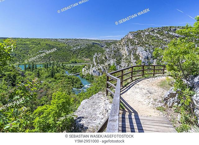 Roški Slap, Krka National Park, Bogatic, Sibensko-Kninska, Dalmatia, Croatia, Europe