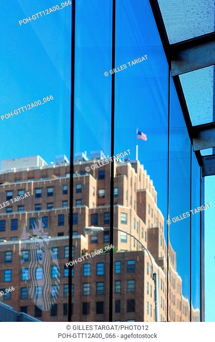 usa, etat de New York, New York City, Manhattan, Chelsea, buildings, rue, 8th avenue, buildings, starbucks cafe, logo, Photo Gilles Targat