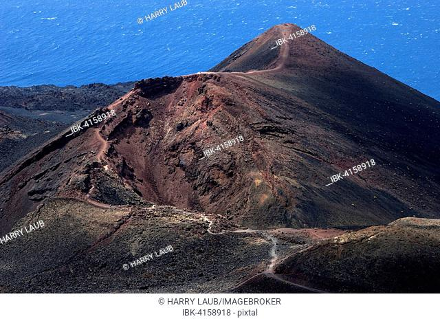 Volcano de Teneguia, near Fuencaliente, La Palma, Canary Islands, Spain