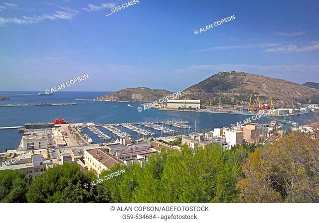 Spain Murcia Cartagena Old Town and Port