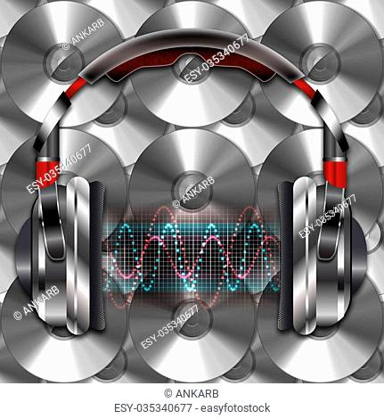 Illustration speaker sound wave Stock Photos and Images