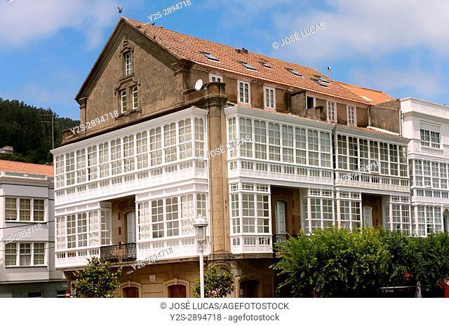 Traditional architecture, Cedeira, La Coruna province, Region of Galicia, Spain, Europe