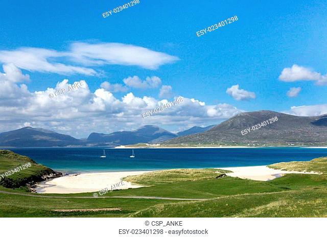 Turquoise waters on Isle of Harris