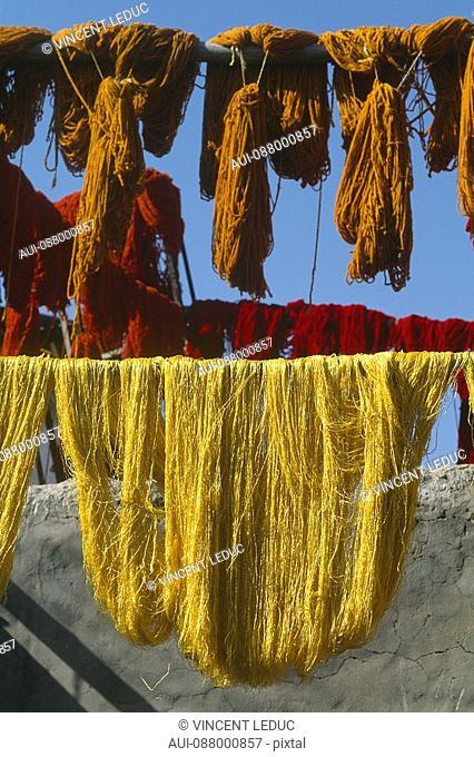 Morocco - Marrakech - The Medina - The dyers' souk