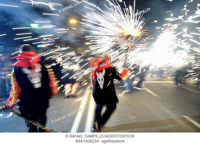 'Correfocs', La Merce festival, Barcelona, Catalonia, Spain