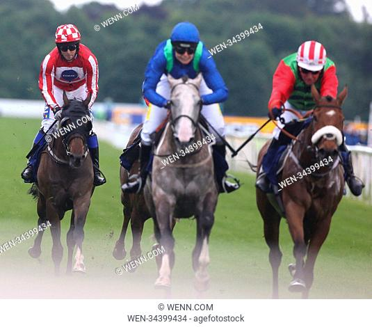 Former Love Island finalist and reality TV star Chris Hughes finished fifth (5) on his debut as a jockey in a charity race at York Racecourse