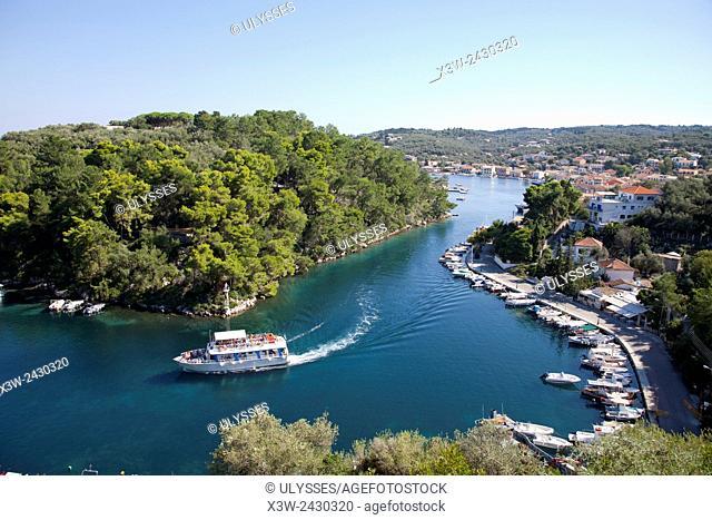 Gaios village, Ionian Islands, Paxi island, Greece, Europe