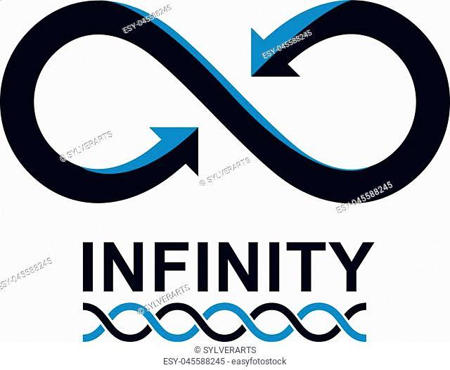 Infinity Loop vector symbol, conceptual logo special design