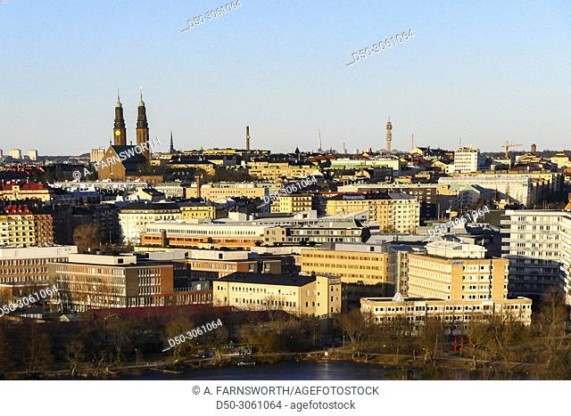 STOCKHOLM, SWEDEN Neighborhood of Nybohov. The city and Södermalm in background