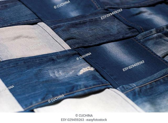 background made weave several pairs of denim pants