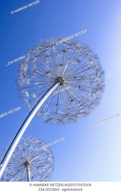 Dandelion lights in front of the Burj Khalifa in Dubai, the highest building of the world