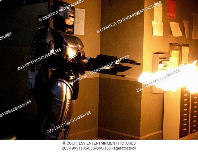 Nov 05, 1993; Atlanta, GA, USA; Actor ROBERT BURKE stars as Robocop in the Fred Dekker directed sci-fi action thriller, 'Robocop 3