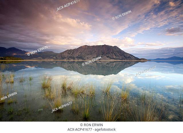 Klaune Lake and Tachal Dhal Sheep Mountain, Kluane National Park and Reserve, Yukon Territory, Canada