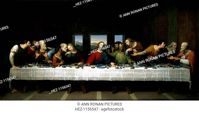 'The Last Supper', 1803. A copy of the famous painting by Leonardo da Vinci in the 1490s