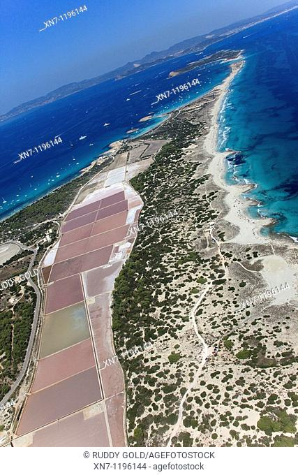 Pujol des Palo ans Ses Illetes on top, Ses Salines, Formentera, Balearic Islands, Spain