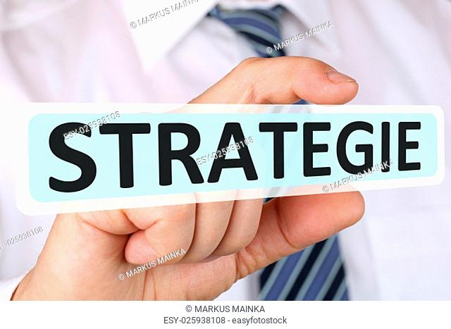 business man concept with strategy for growth success development