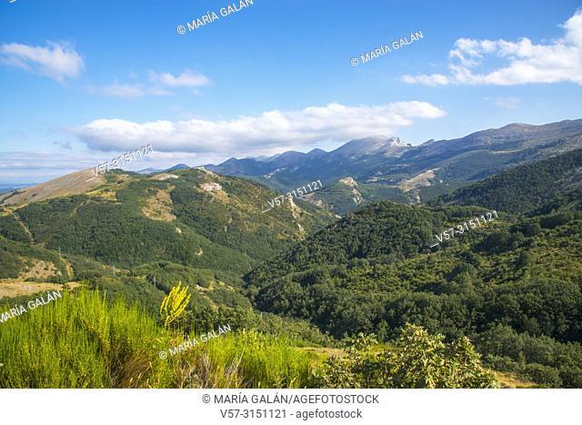 Landscape. Fuentes Carrionas y Fuente Cobre Nature Reserve, Palencia province, Castilla Leon, Spain