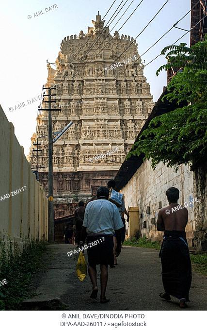padmanabhaswamy temple, thiruvananthapuram, kerala, India, Asia