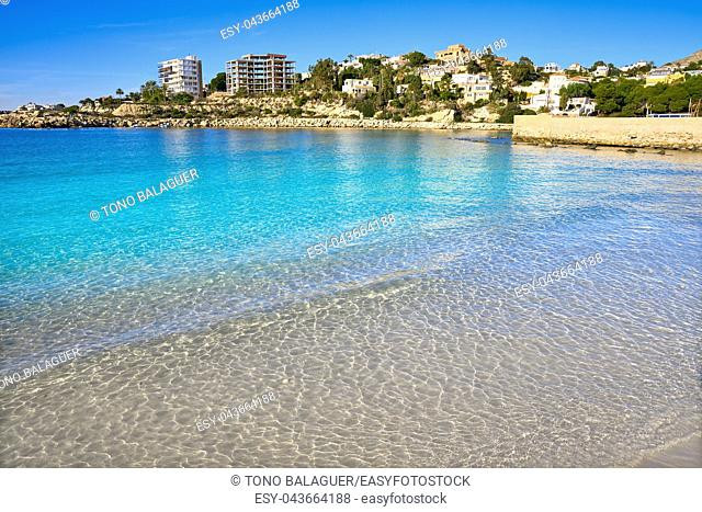 Campello of Alicante Cala Morro Blanc beach in Spain at Costa Blanca