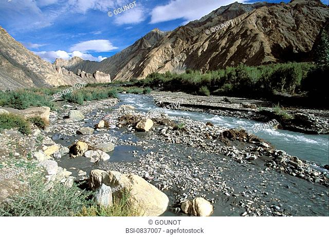 LADAKH, INDIA The buddhist kingdom of Ladakh is located in the north-east of India, inserted into the Himalayan chain, at the border of Pakistan and Tibet