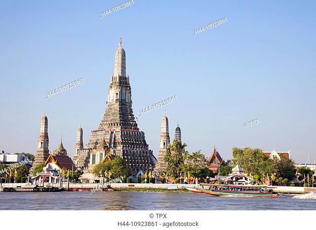 Asia, Thailand, Bangkok, Wat Arun, Temple of Dawn, Chao Phraya River, River, Rivers, Temple, Temples, Thai Temple, Thai Temples, Stupa, Stupas, Chedi, Chedis