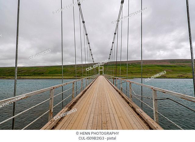 Bridge over the river Skjalfandafljot, north Iceland