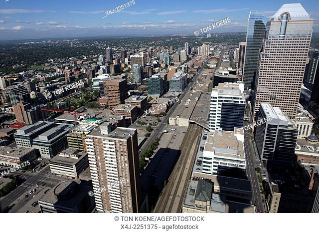view from Calgary tower, canada