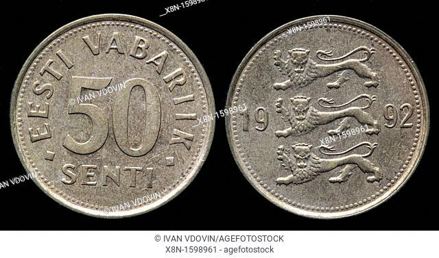 50 Senti coin, Estonia, 1992