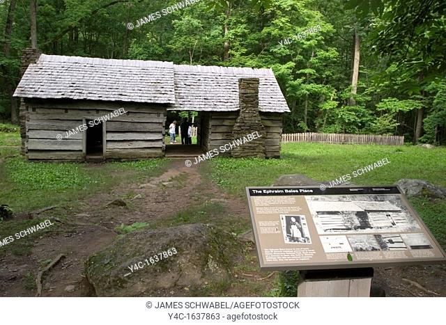 Ephraim Bales Place CA  1865-1925 on the Roaring Fork Motor Nature Trail in the Great Smoky Mountains National Park, Tennessee