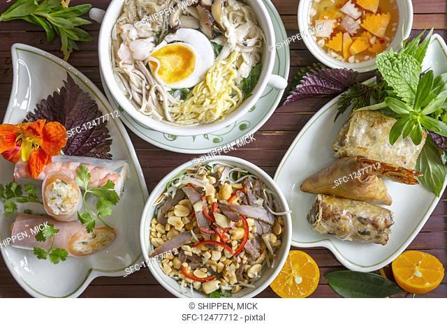 A selection of Vietnamese dishes (Hanoi, Vietnam)