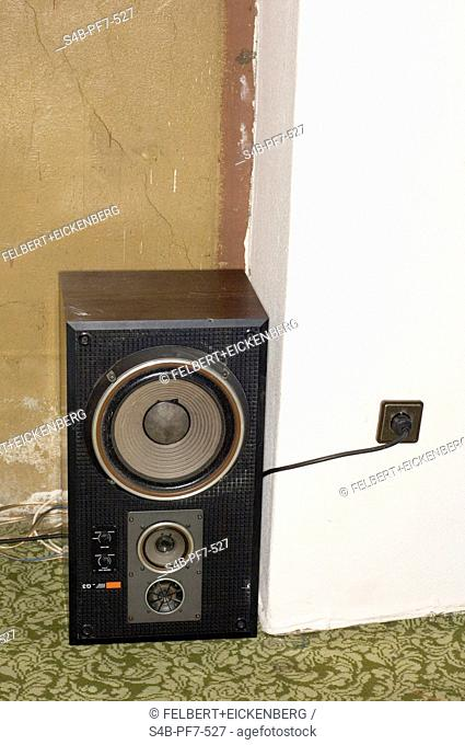 Loudspeaker in a room, Hamburg, Germany