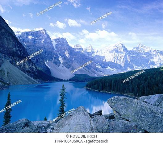10643596, Alberta, scenery, Banff national, park, mountains, Canada, North America, Moraine lake, sea