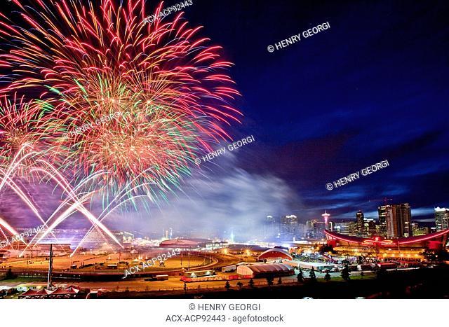 Fireworks at 2015 Calgary Stampede, Calgary, Alberta, Canada