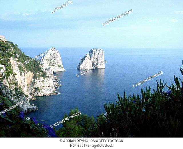 'Faraglioni' (cliffs), Capri Island. Italy