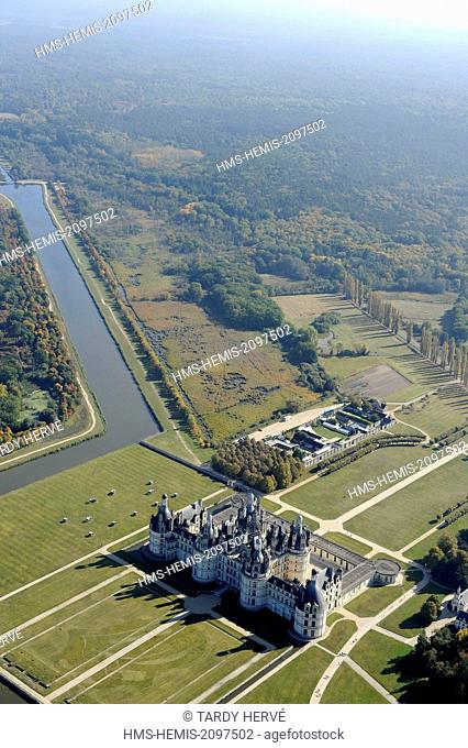 France, Loir et Cher, Chambord, the Loire Valley, Chambord castle listed as World Heritage by UNESCO, built between 1519 and 1538, Renaissance style