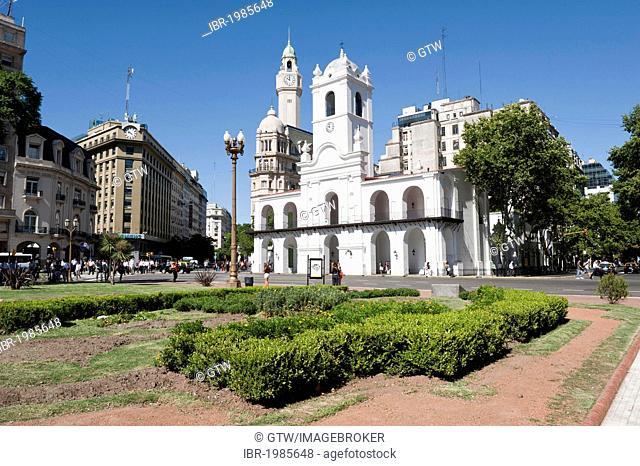 Cabildo, Plaza de Mayo square, Buenos Aires, Argentina, South America