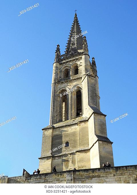 Monolithic Church, Saint Emilion, Gironde Department, New Aquitaine, France
