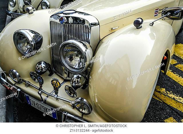 Vintage 1948 Triumph Roadster on display in Opatija Croatia