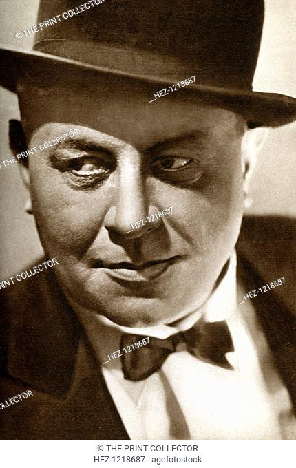Emil Jannings, Swiss actor, 1933. Jannings (1884-1950) was the first winner of the Academy Award for Best Actor, which he won for his performances in 'The Way...