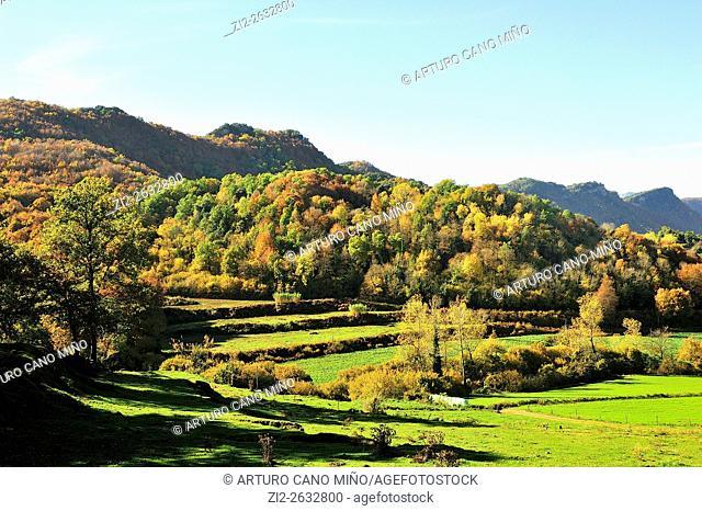 The Garrotxa Volcanic Zone Natural Park. Girona province, Spain