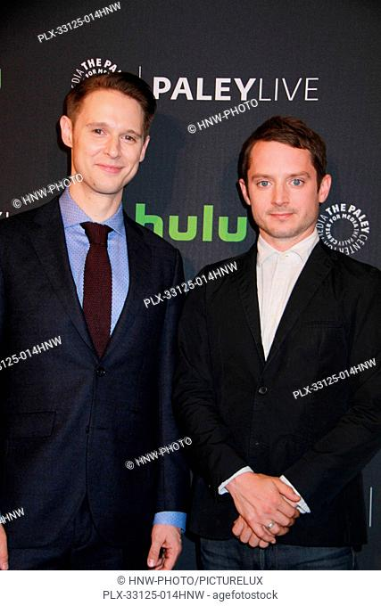 Samuel Barnett, Elijah Wood 10/18/2016 PaleyLive LA premiere event Dirk Gently's Holistic Detective Agency Screening and Conversation held at The Paley Center...