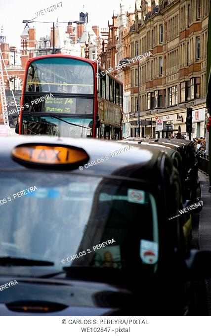 Taxicab in London, Great Britain, UK