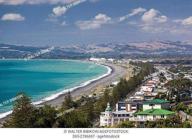 New Zealand, North Island, Hawkes Bay, Napier, elevated city view