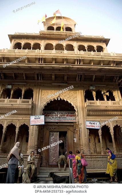 Shri banke bihari temple, vrindavan, uttar pradesh, india, asia