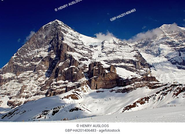Europe - Switzerland - Alps - North Face of Eiger (3970m) + Mönch (4107m)