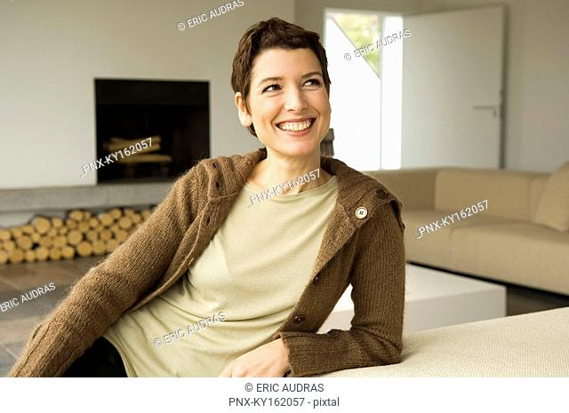 Mid adult woman smiling