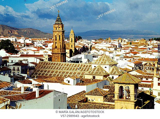 Overview. Antequera, Malaga province, Andalucia, Spain