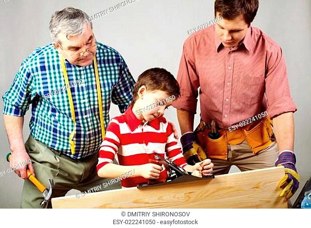 A young craftsman