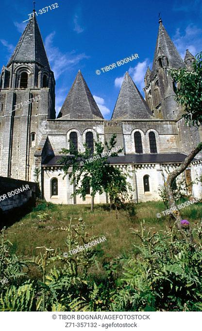 Saint Ours' church. Loches. Val-de-Loire, France